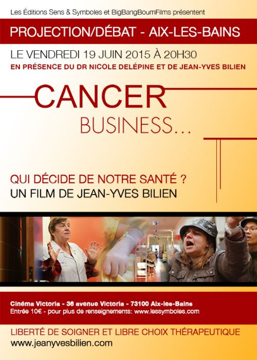 Projection film Nicole DELEPINE 'Cancer, business...'