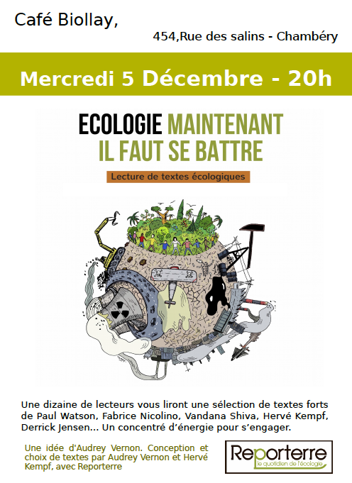 ÉCOLOGIE MAINTENANT IL FAUT SE BATTRE – Lectures de textes écologiques